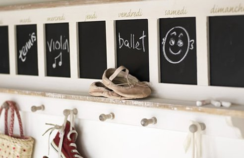 Kids Hooks with blackboard Make an Entrance   Big Ideas for a Small Space