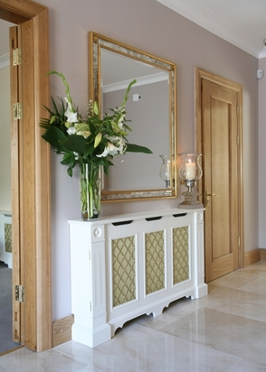 Radiator Cover by McNally Joinery Make an Entrance   Big Ideas for a Small Space