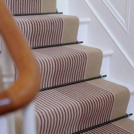 Striped stair runner Make an Entrance   Big Ideas for a Small Space