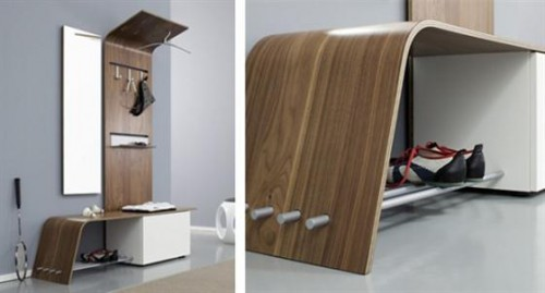 contemporary Modular Hallway Furniture1 500x269 Make an Entrance   Big Ideas for a Small Space