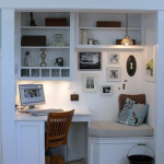 Office in an alcove 150x150 Make an Entrance   Big Ideas for a Small Space