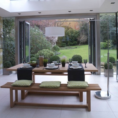 Garden room dining area Modern Ideal Home 500x500 Rooms for an Irish Summer!