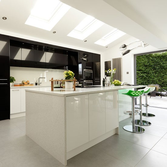Rooms for an irish summer emerald interiors blog Contemporary open plan kitchen