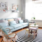 Pastel blue couch 150x150 How to Decorate a Black and White Bedroom
