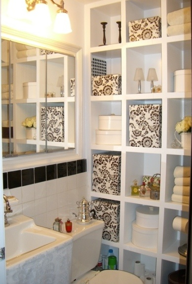 I Like The Shelving Idea In This Small Bathroom I Spotted On Pinterest.