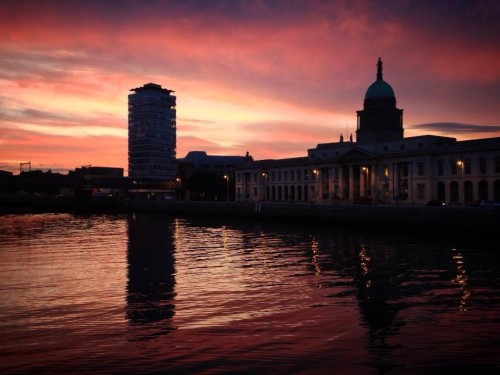 Dublin City Red Sky