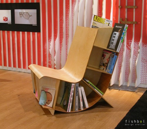 Fishbol Bookseat 500x440 15 Creative Bookshelves For Your Home