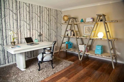 eclectic home office 15 Creative Bookshelves For Your Home
