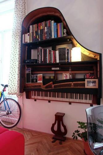 Grand Piano Bookshelves