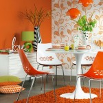 Orange dining room modern Ideal Home 150x150 12 Small But Beautiful Bathrooms