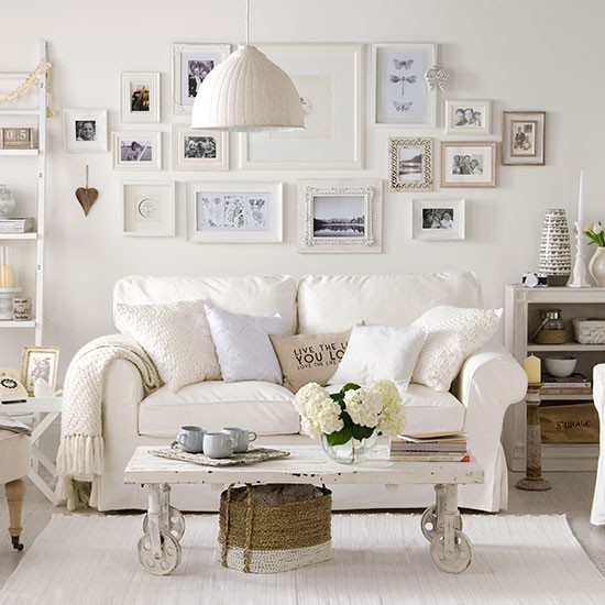 Soft White Living Room Ideal Home Housetohome Shabby Chic Charm