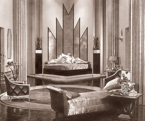 9 art deco style emerald interiors blog for Art deco bedroom designs