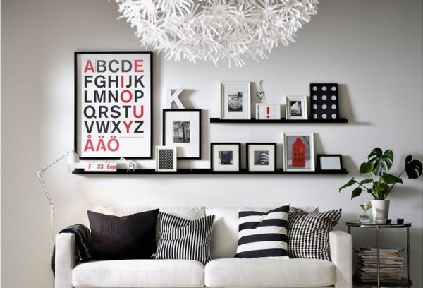 ikea picture ledges.jpg 600x408 How To Create A Photo Gallery Wall