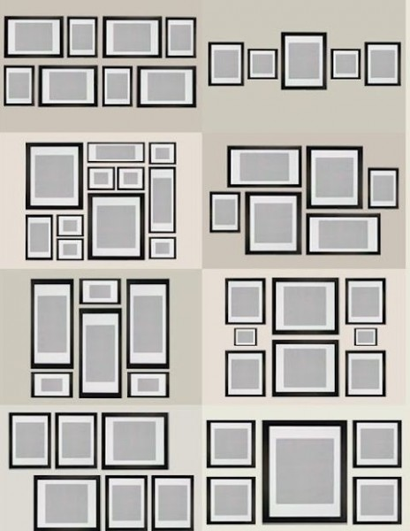 picture layout 2 464x600 How To Create A Photo Gallery Wall
