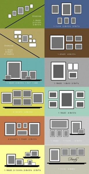 picture layouts 3 307x600 How To Create A Photo Gallery Wall