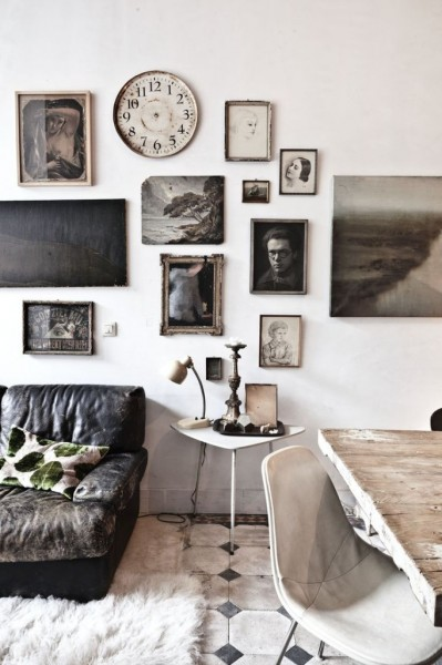 vintage galler 399x600 How To Create A Photo Gallery Wall