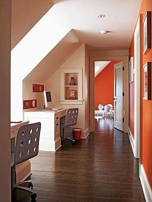 Hallway desk area