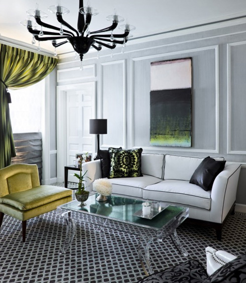 Guest post modernly modern living rooms emerald for Modern home decor blog