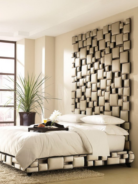 Contemporary headboard and base