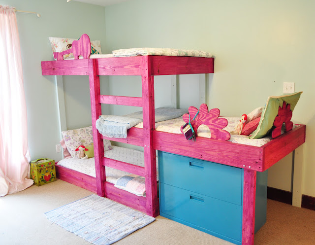 Cool How about this cool DIY bunk bed system for from The Handmade Dress