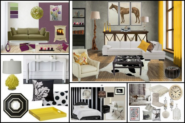 sample mood boards created by Emerald Interior Design