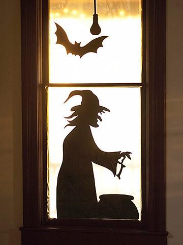 halloween window silhouette