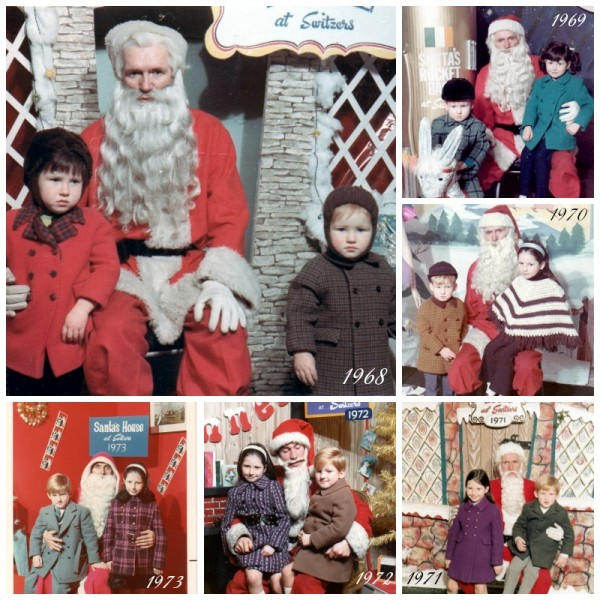 Santa over the years