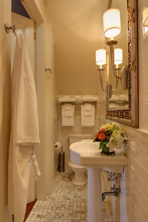 12 small but beautiful bathrooms emerald interiors blog for Bathroom closet remodel