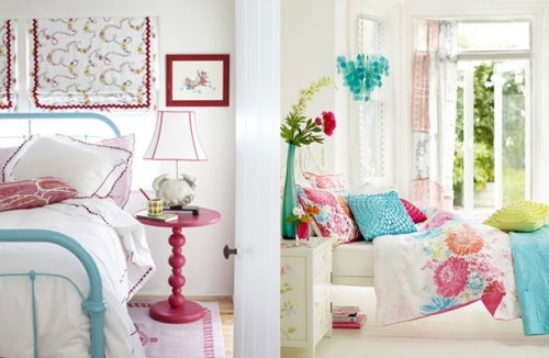 Decorating with turquoise and pink emerald interiors blog for Turquoise and pink bedroom