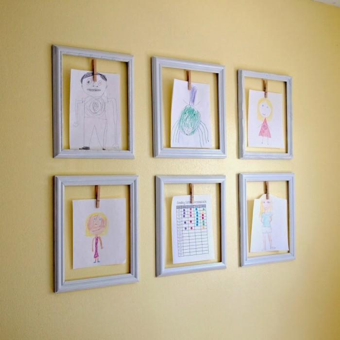 Creative Ways To Display Your Children S Artwork Emerald