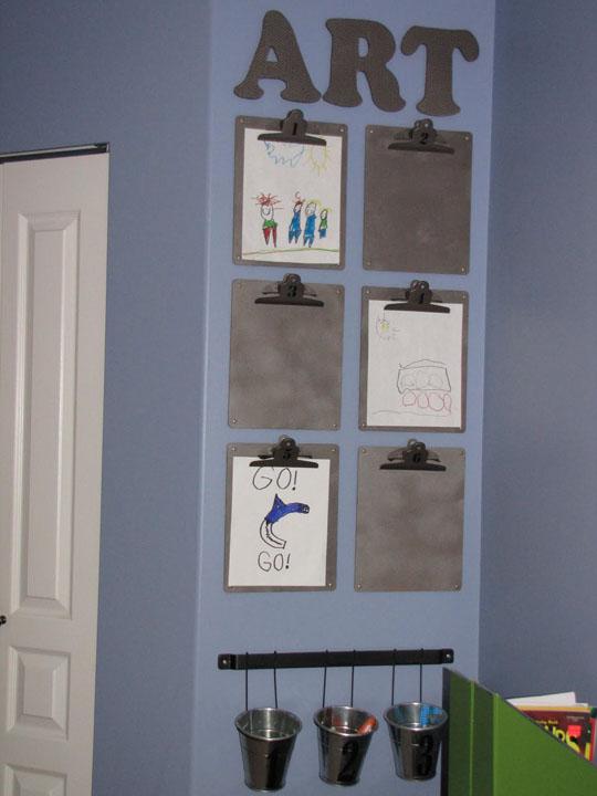 Creative ways to display children s artwork emerald for Creative ways to display artwork