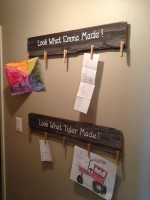 creative ways to display children's artwork