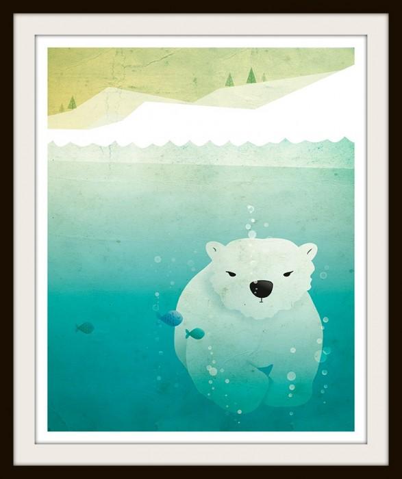 Irene Gough Polar Bear Print
